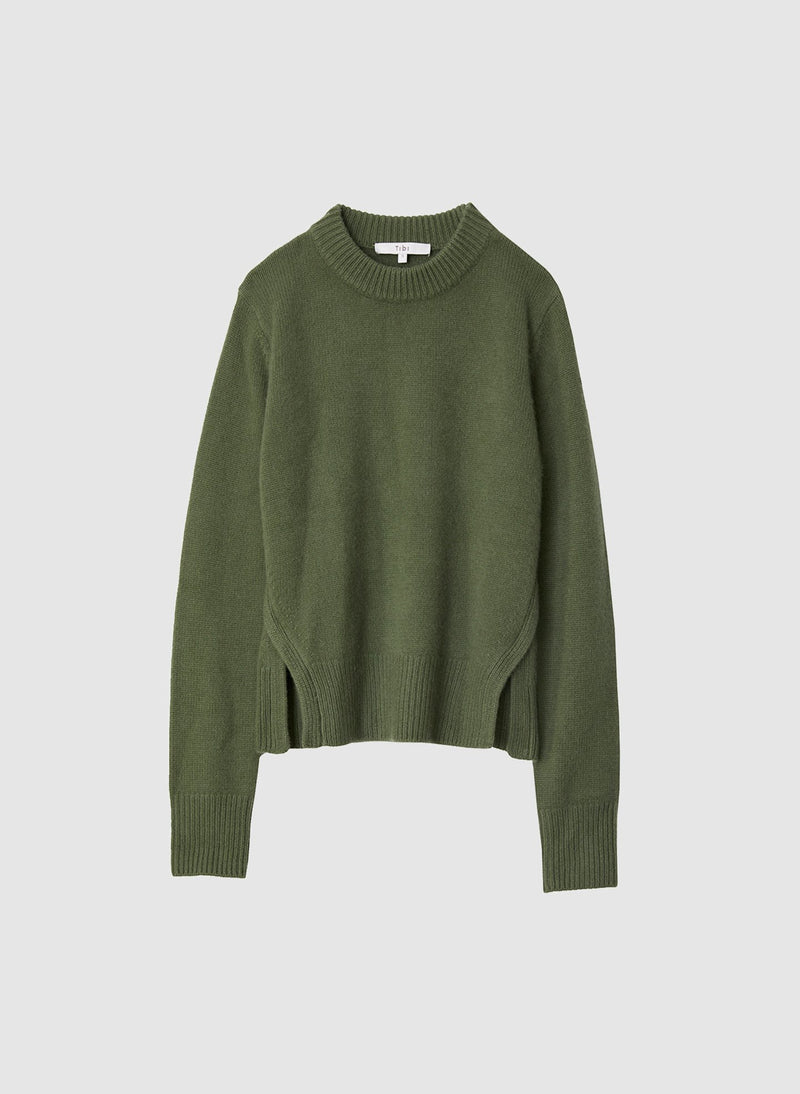 Cashmere Mini Pullover Army Green-6