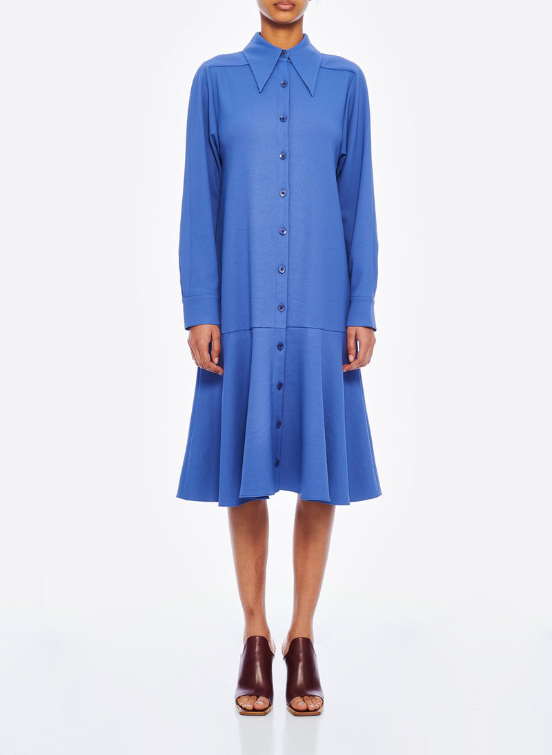 Chalky Drape Shirtdress Denim Blue-1