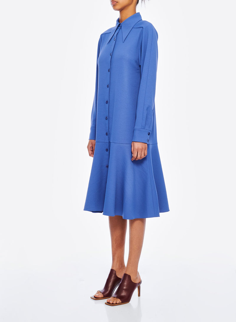 Chalky Drape Shirtdress Denim Blue-2