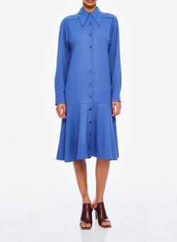 Chalky Drape Shirtdress Denim Blue-6