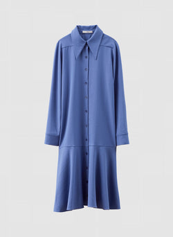 Chalky Drape Shirtdress Denim Blue-7