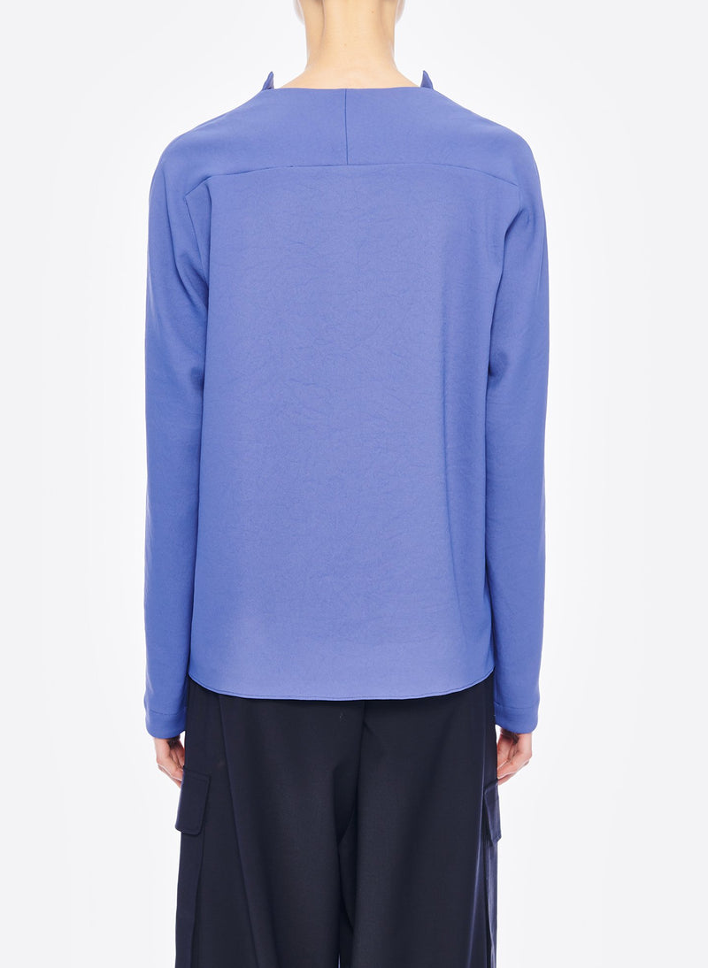 Chalky Drape Raglan Top Denim Blue-3