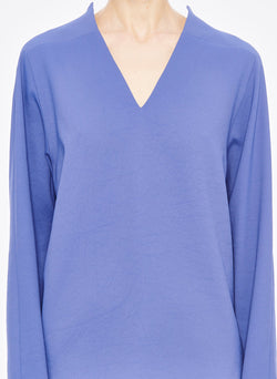 Chalky Drape Raglan Top Denim Blue-4