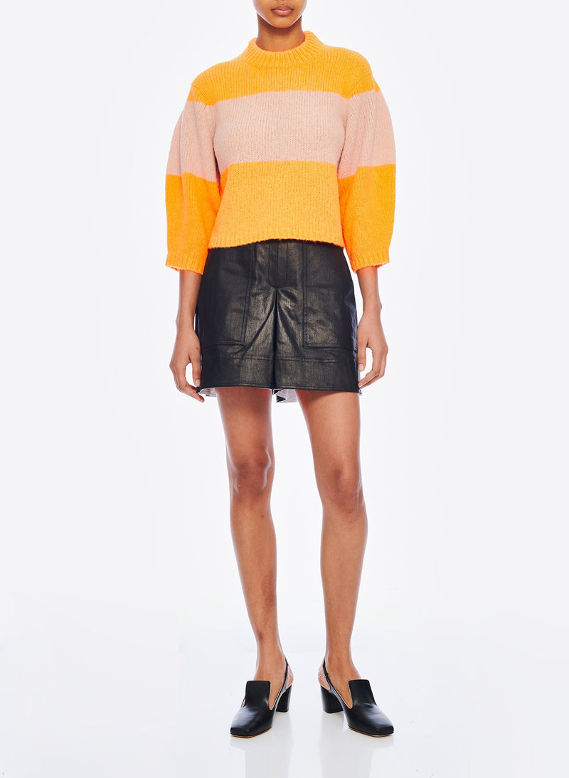 Cozette Cropped Pullover Tangerine/Light Burlywood Multi-13
