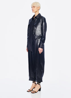 Liquid Drape Utility Jumpsuit Dark Navy-2