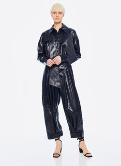 Liquid Drape Utility Jumpsuit Dark Navy-5