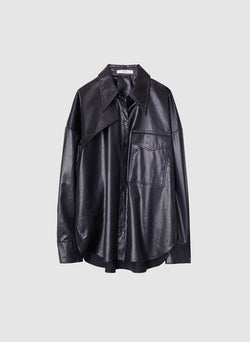 Liquid Drape Utility Shirt Dark Navy-7
