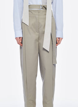 Myriam Twill Double Waisted Sculpted Pant Light Carbon-5