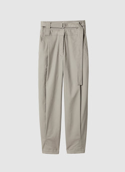 Myriam Twill Double Waisted Sculpted Pant Light Carbon-7