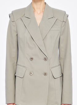 Myriam Twill Sculpted Blazer Light Carbon-4