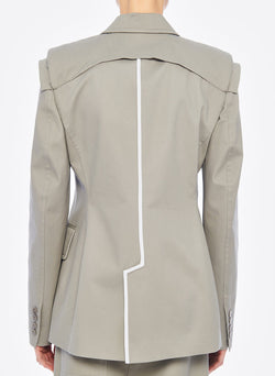 Myriam Twill Sculpted Blazer Light Carbon-5