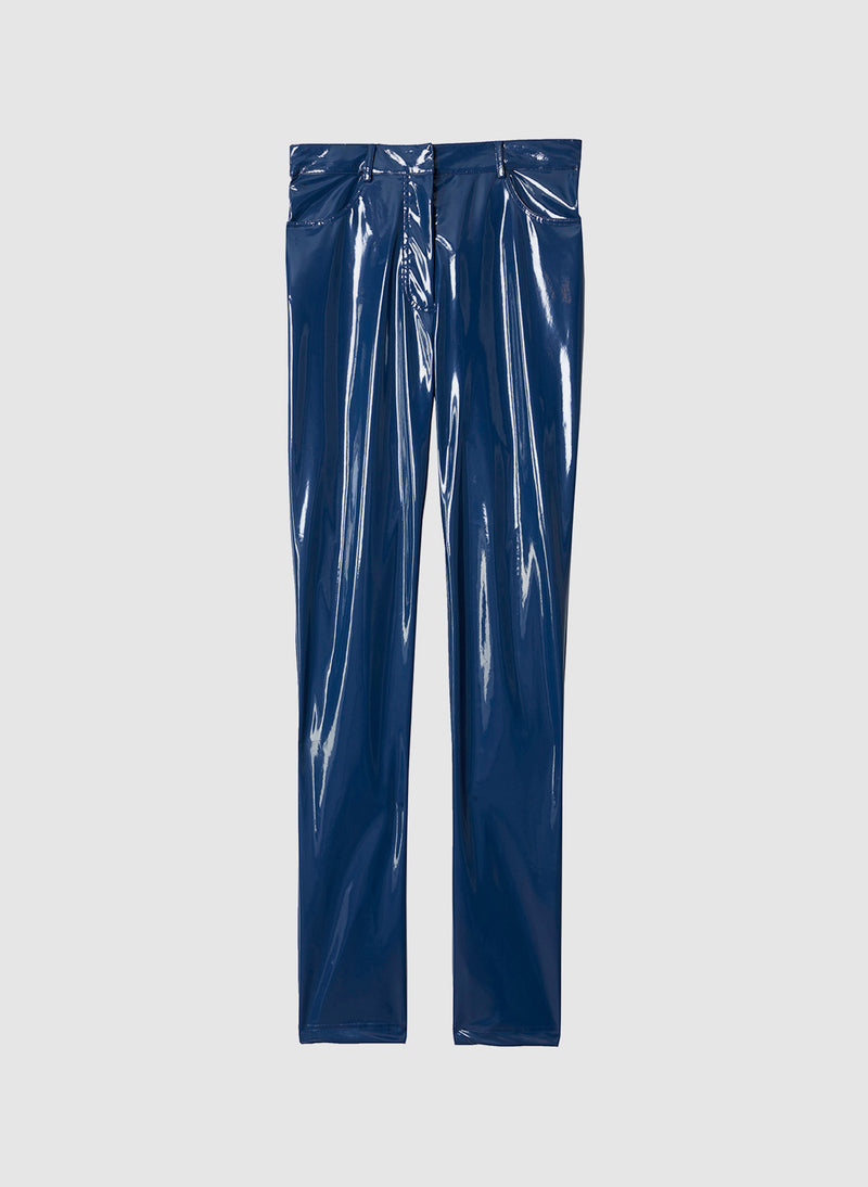 Tech Patent Skinny Trouser Dusty Blue-7