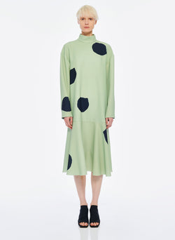 Polka Dot Dress Pistachio / Black Multi-1