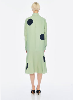 Polka Dot Dress Pistachio / Black Multi-3