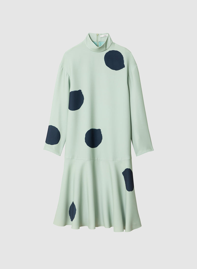 Polka Dot Dress Pistachio/Black Multi-7