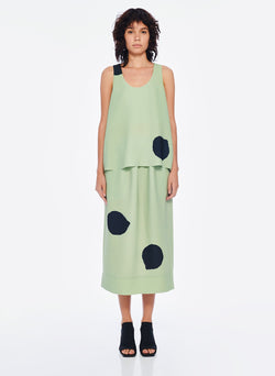 Polka Dot Pull On Skirt Pistachio / Black Multi-1