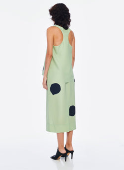 Polka Dot Pull On Skirt Pistachio / Black Multi-3