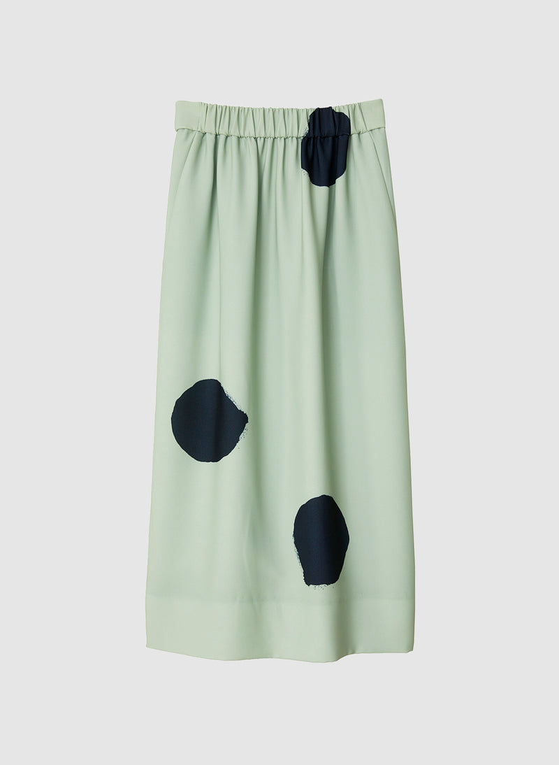 Polka Dot Pull On Skirt Pistachio/Black Multi-7