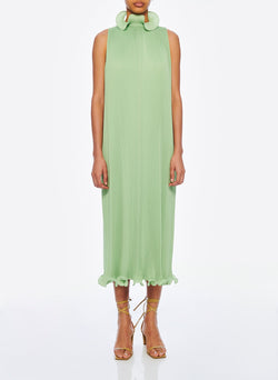 Pleated Sleeveless Dress Mint-1