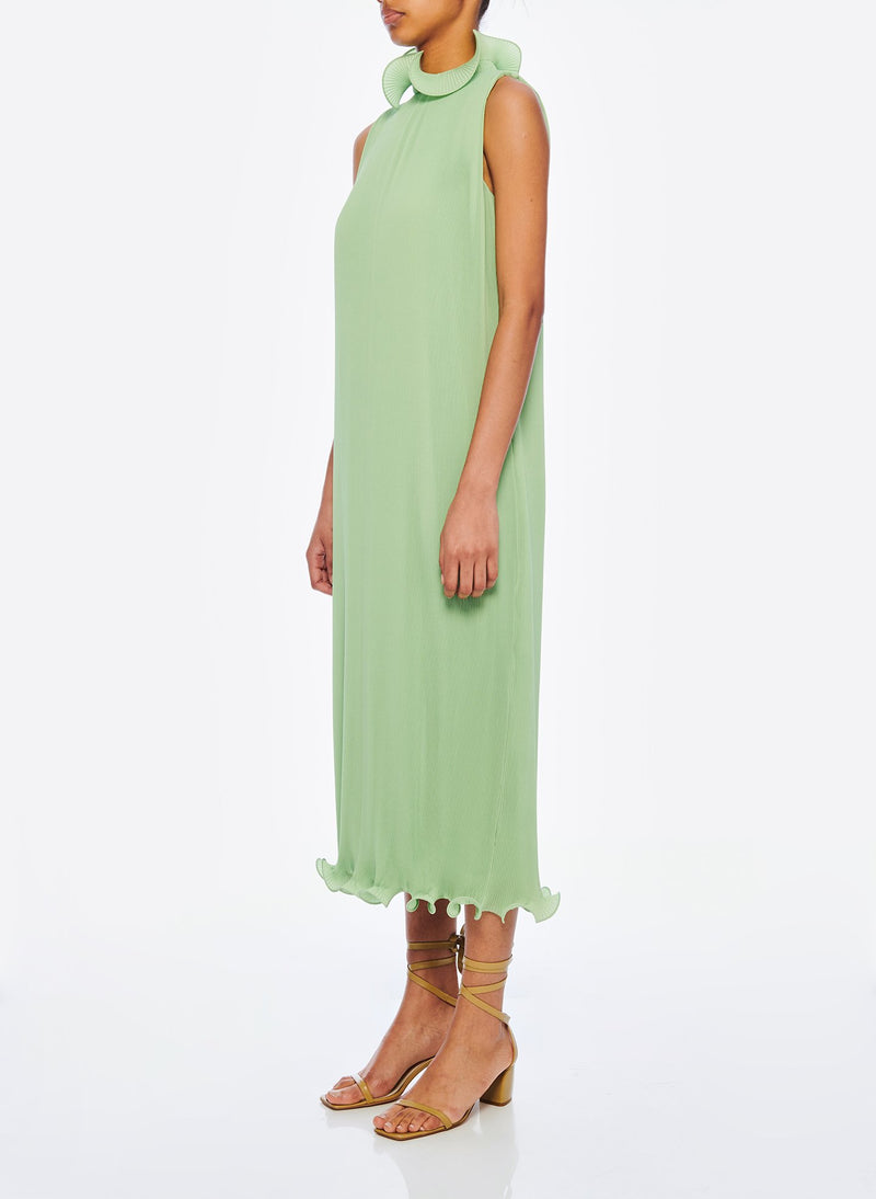 Pleated Sleeveless Dress Mint-2