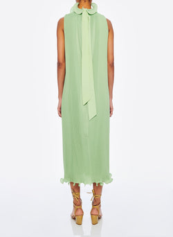 Pleated Sleeveless Dress Mint-3