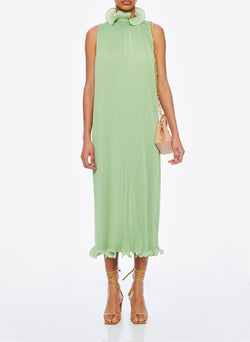 Pleated Sleeveless Dress Mint-4