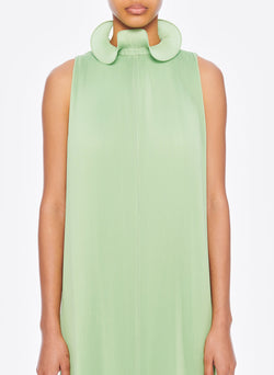 Pleated Sleeveless Dress Mint-5