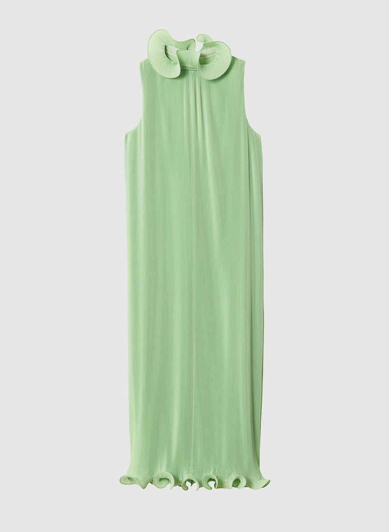 Pleated Sleeveless Dress Mint-7