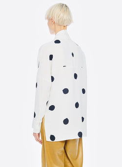 Polka Dot Dolman Top White/Black Multi-3