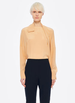 Heavy Silk CDC Dolman Top Light Burlywood-1