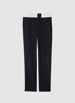 Tropical Wool Beatle Pant Navy/Ivory Multi-1