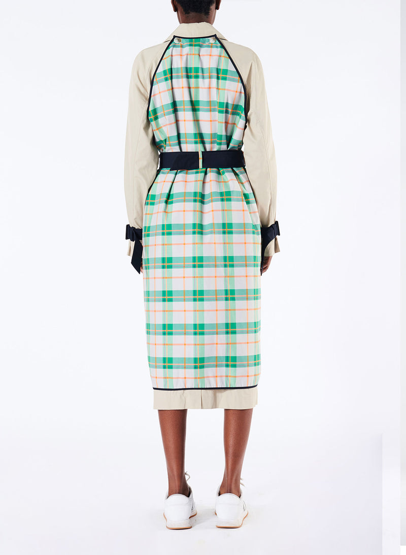 Hani Plaid Trench with Removable Printed Shell Hani Plaid Trench with Removable Printed Shell