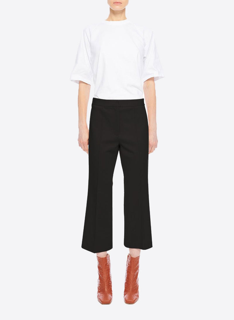 Bond Stretch Knit Jane Cropped Bootcut Pant Black-1