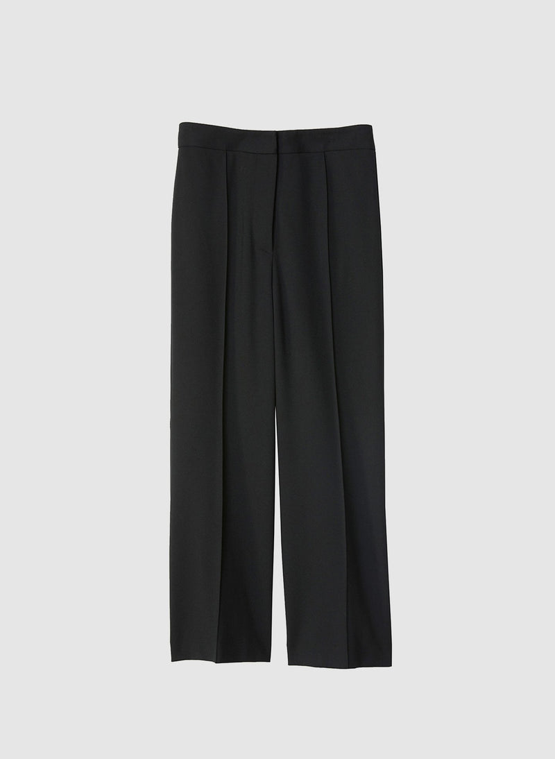 Bond Stretch Knit Jane Cropped Bootcut Pant Black-7