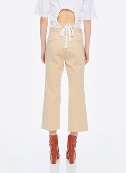 Bond Stretch Knit Jane Cropped Bootcut Pant Light Burlywood-10