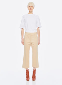 Bond Stretch Knit Jane Cropped Bootcut Pant Light Burlywood-11