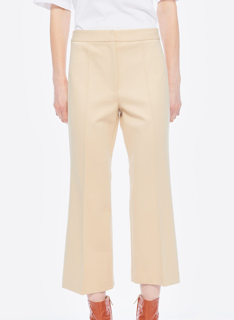 Bond Stretch Knit Jane Cropped Bootcut Pant Light Burlywood-12