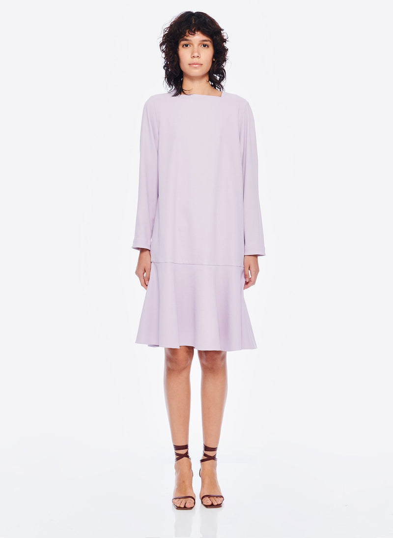 Chalky Drape Square Neck Dropwaist Dress Lavender-1