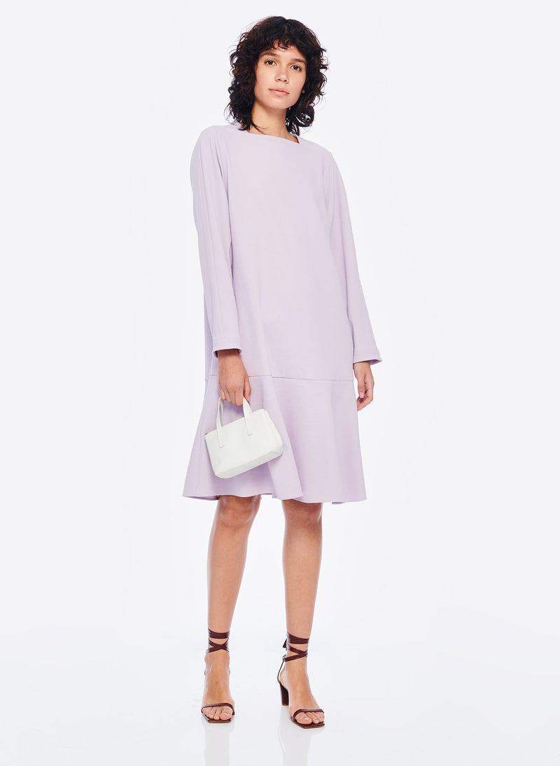 Chalky Drape Square Neck Dropwaist Dress Lavender-6