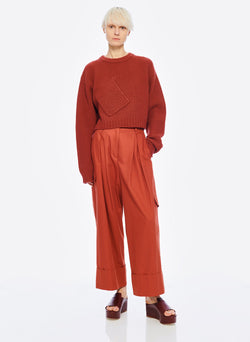 Harrison Chino Pleated Cargo Pant Dusty Red-6