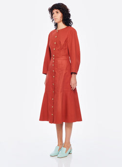 Harrison Chino Patch Pocket Skirt Dusty Red-9
