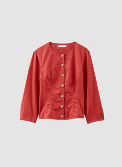 Harrison Chino Corset Top Dusty Red-7