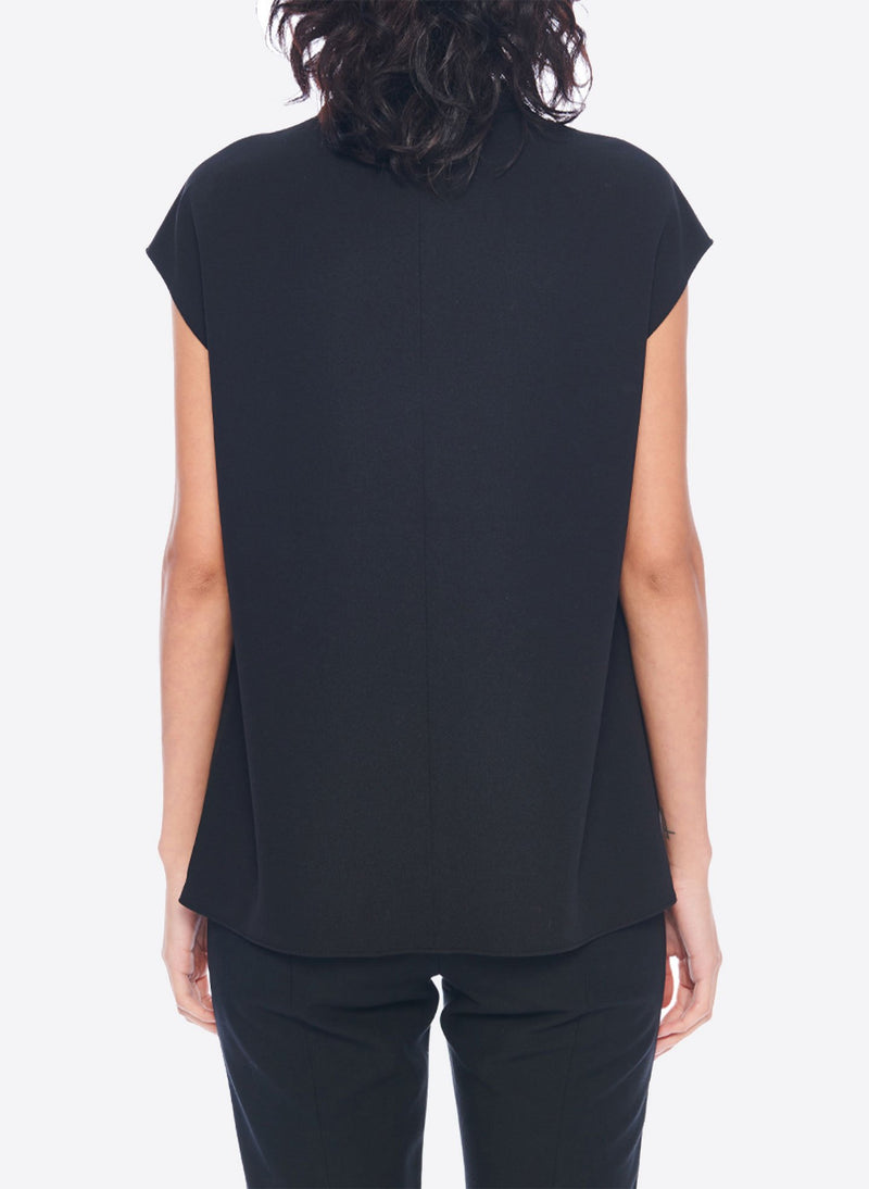 Structured Crepe Sleeveless Top Black-2