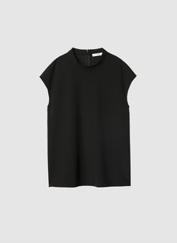 Structured Crepe Sleeveless Top Black-7