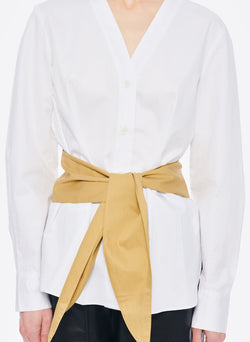 Satin Poplin Shirt White Multi-4