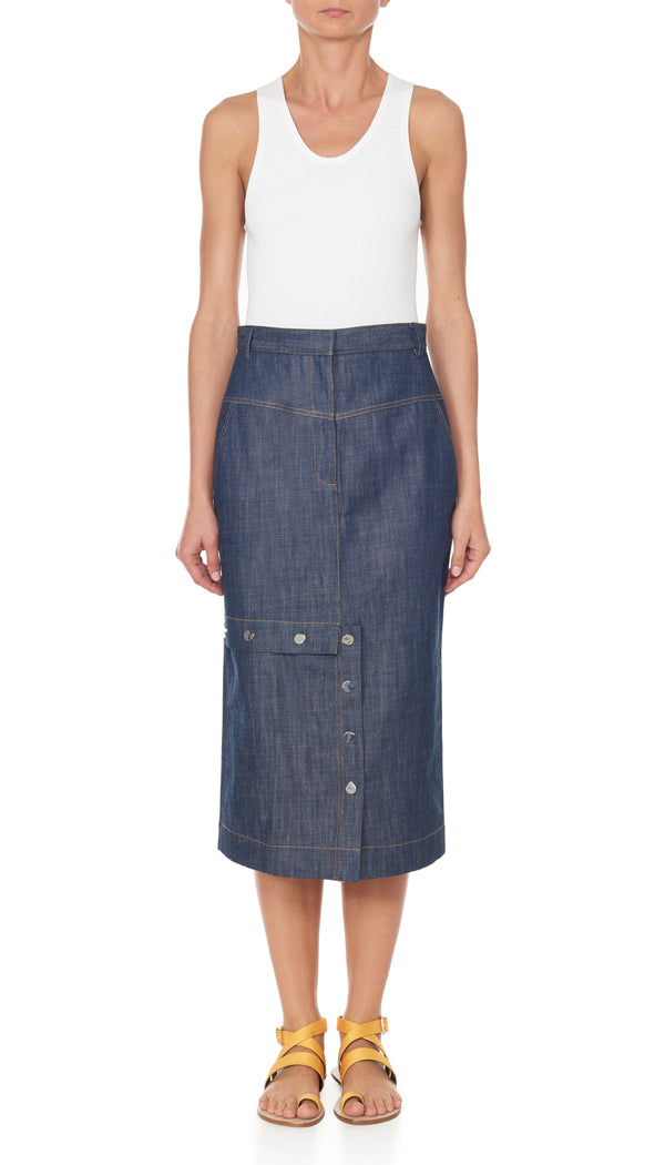 Raw Denim Jamie Skirt