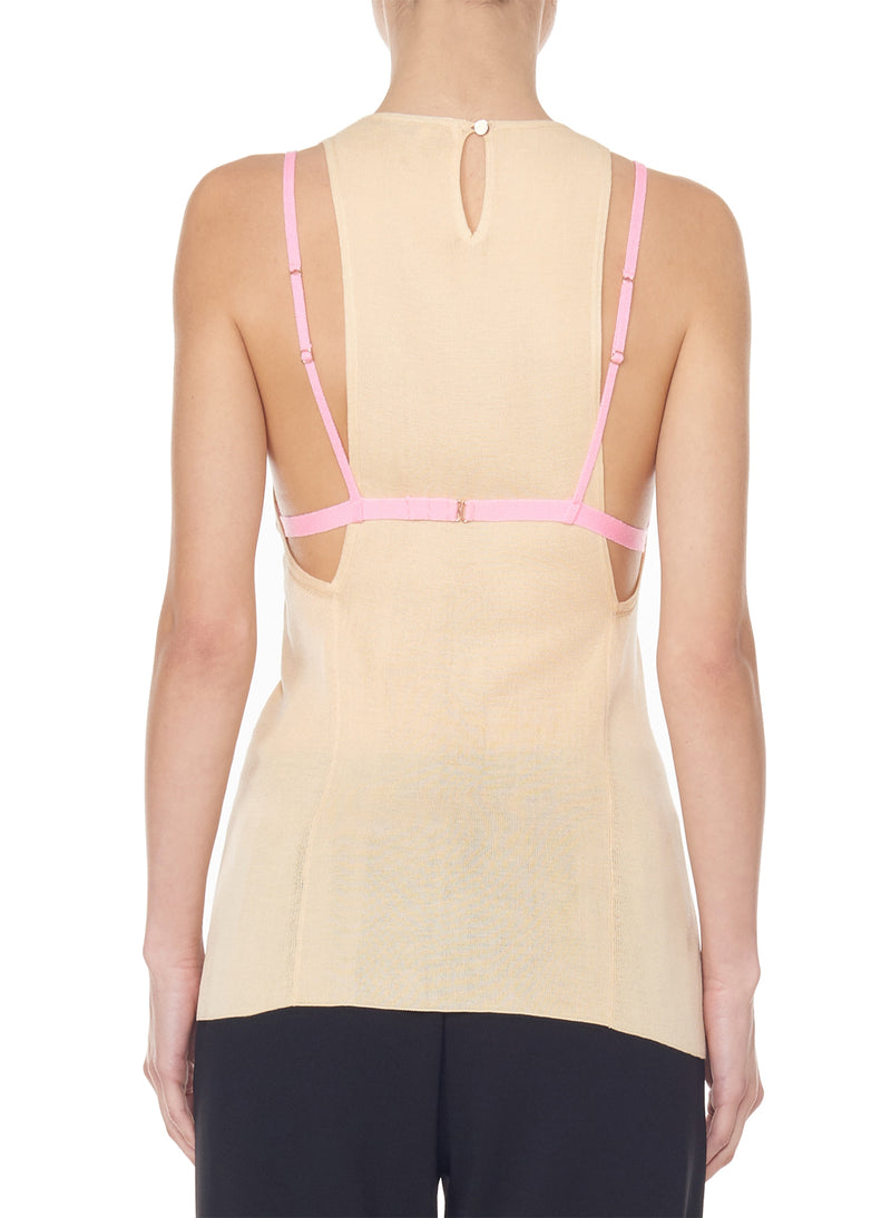 Claire Sweater Tank Light Apricot-2