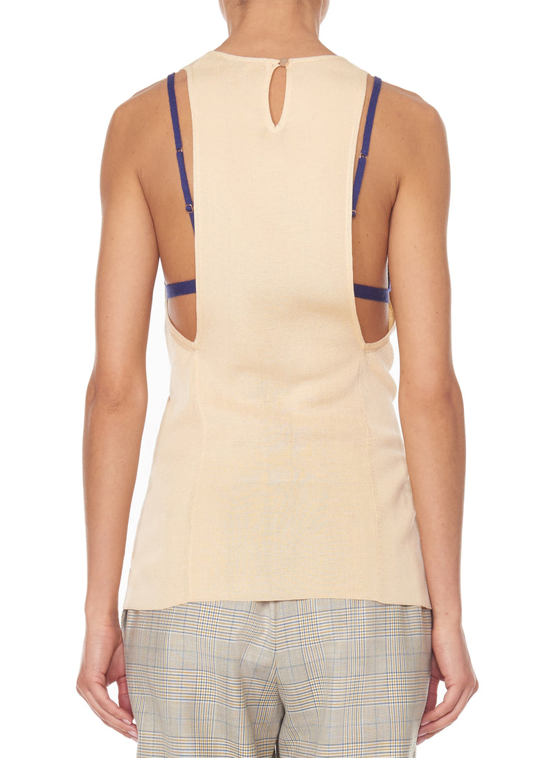 Claire Sweater Tank Light Apricot-4