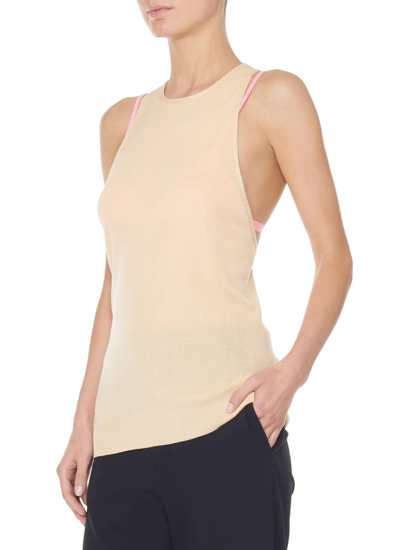 Claire Sweater Tank Light Apricot-3