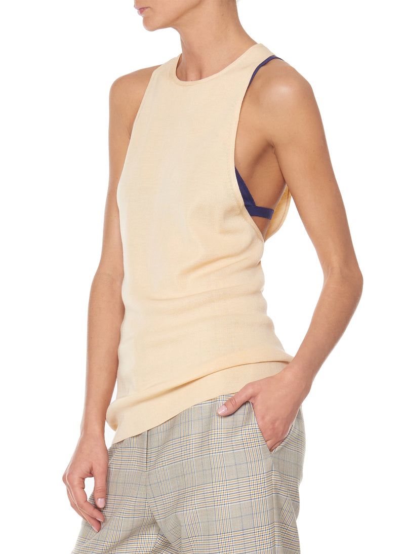 Claire Sweater Tank Light Apricot-5